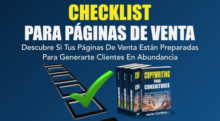 checklist para páginas de venta