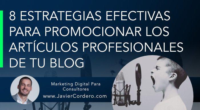 como promocionar articulos blog