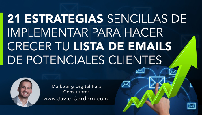 estrategias sencillas captar emails