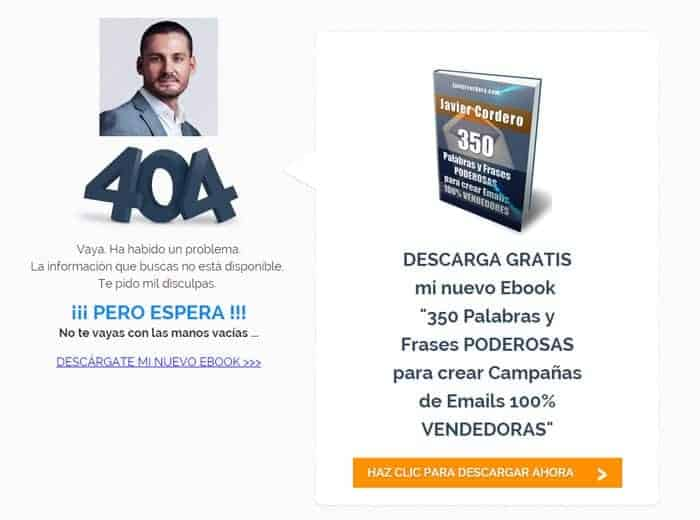 pagina 404 personalizada wordpress