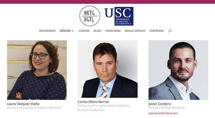 Profesor titular en el máster USC – Universidad de Santiago de Compostela
